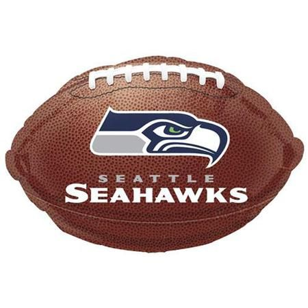 Grab the attention of your guests as they walk into your football party! Our Seattle Seahawks 18in Football Balloon makes a great accent your Seahawks fans are sure to love! This balloon is in the shape of a football and has the Seattle Seahawks logo on the sides of the balloon. Additional football and Seahawks decorations are available and sold separately.