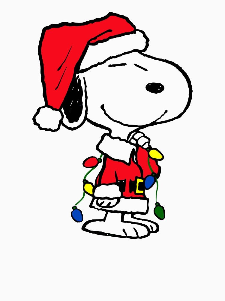 Christmas Snoopy.Merry Christmas Snoopy Women S Fitted Scoop T Shirt