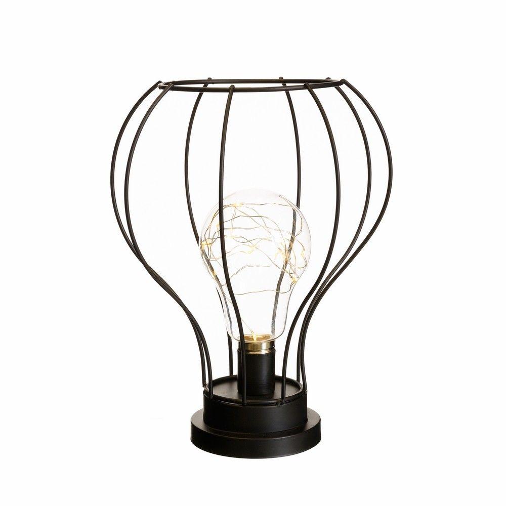 Lámpara decorativa industrial negra de led para salón | REBAJAS