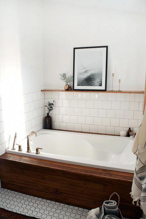 One Room Challenge Week #2: $950 Navy Boho Bathroom Makeover - Postbox Designs