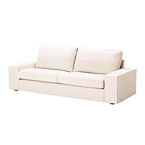 100 cotton sofas corner recliner chaise sofa replace cover for ikea kivik three seat bed sleeper white