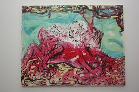 emailed a New York Gallery about the art of Lola Montes Schnabel...turned out the piece I liked was a mere twenty thousand dollars. Sigh.