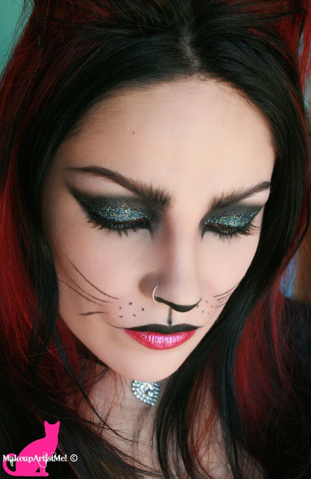 Felina Cat Costume Makeup Tutorial Awesome acrylic nails