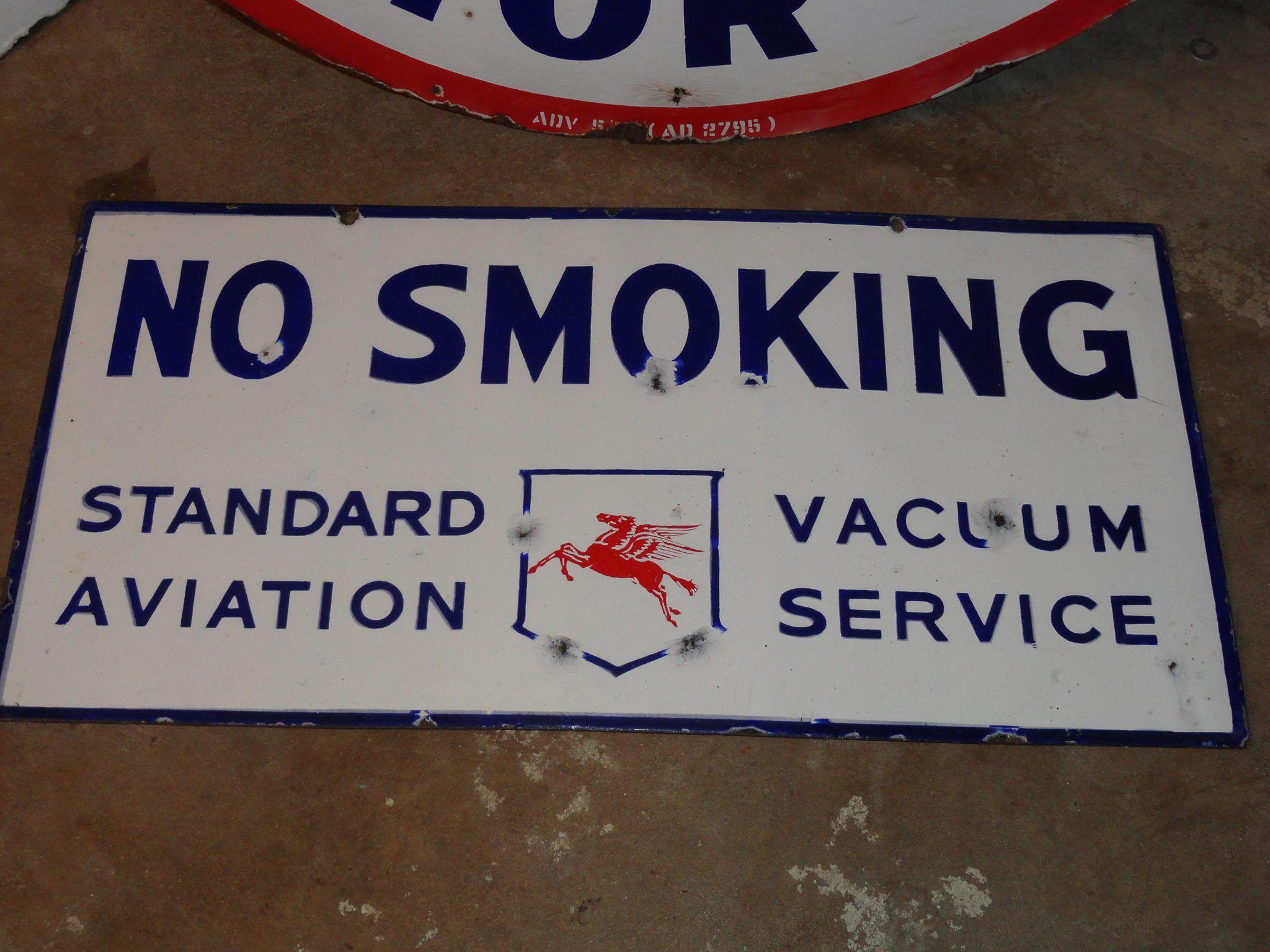 Texaco No Smoking Vintage Style Porcelain Enamel Signs Gas Pump Man Cave Decor
