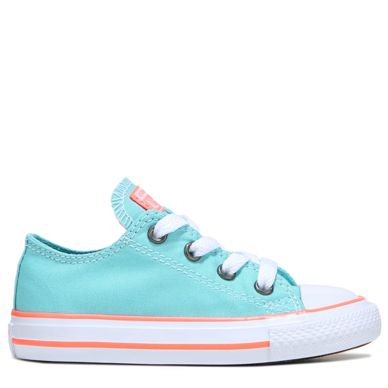 6e7893dd71ad Converse Kids  Chuck Taylor All Star Low Top Sneakers (Aqua Crimson Pulse)