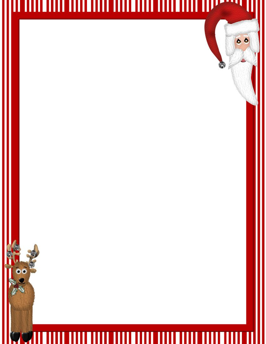 picture regarding Free Printable Christmas Letterhead named No cost Printable Xmas Stationary Borders