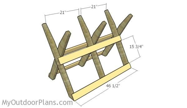 Log Sawhorse Plans Myoutdoorplans Free Woodworking Plans And Projects Diy Shed Wooden Playhouse Pergola Sawhorse Plans Sawhorse Woodworking Plans Free