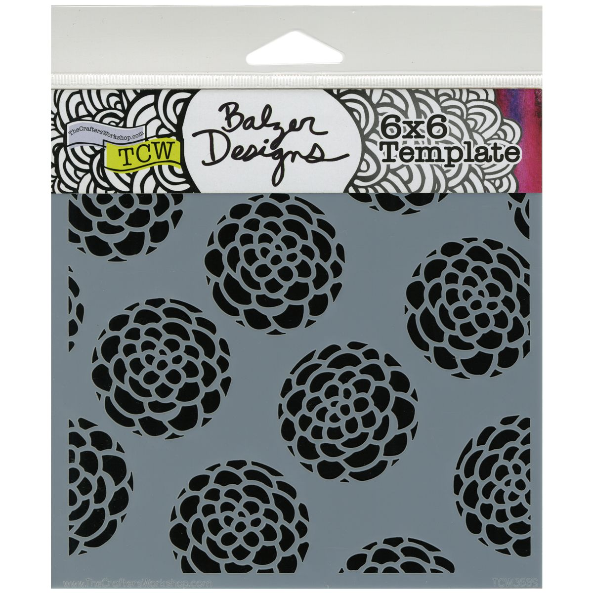 Crafter\'s Workshop Templates Scallop Flowers 6\
