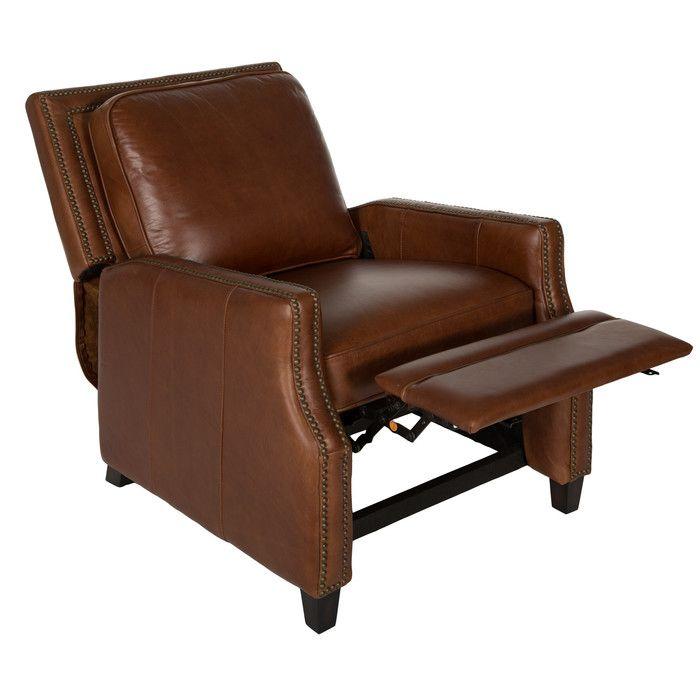 Recliner Safavieh Buddy Italian Leather Recliner u0026