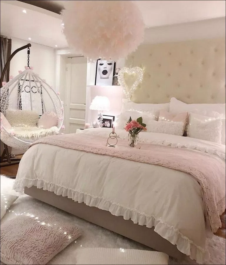 Romantic Living Room Ideas For Feminine Young Ladies Casa: 43 Cozy Home Decorating Ideas For Girls Bedrooms 51