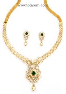 Buy 18K Gold Diamond Necklace new Pinterest 18k gold Indian
