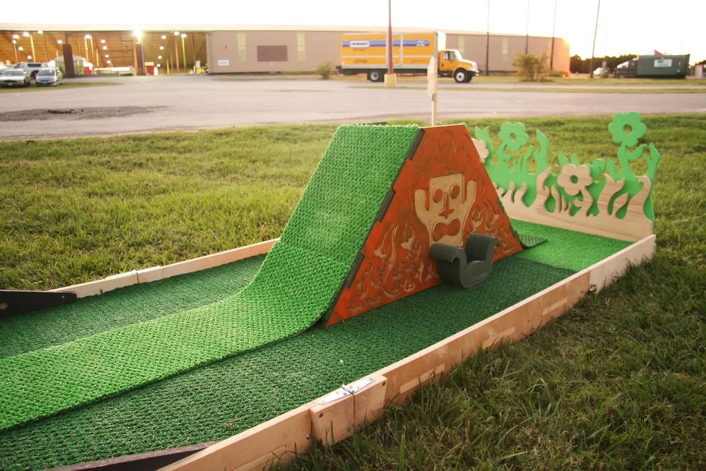 Portable Miniature Golf Course Because We Can Miniature Golf Course Miniature Golf Mini Golf Course