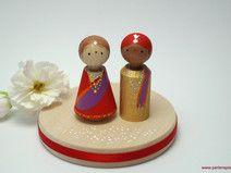 Cake Topper Indische Hochzeit personalisiert