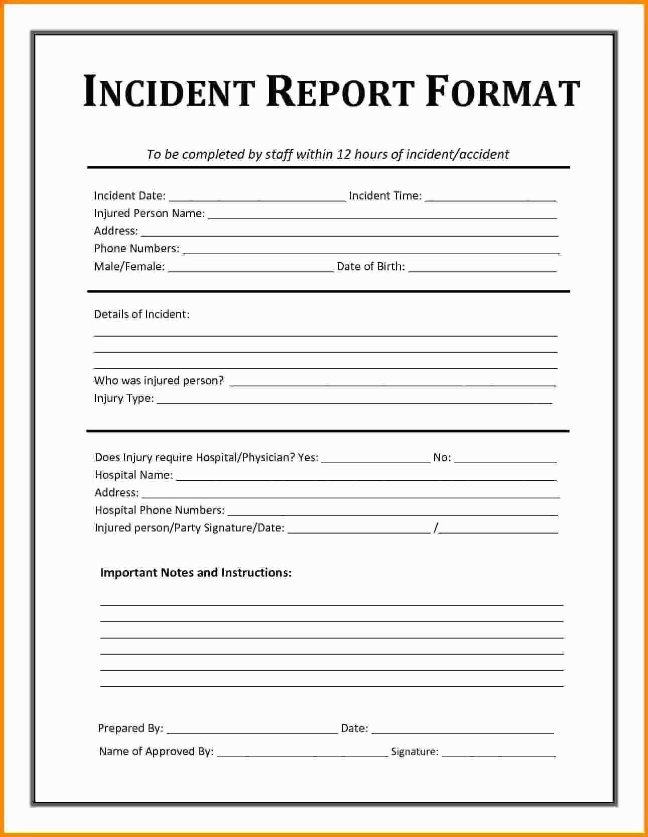Internal Suspicious Activity Report Template In 2020 Incident