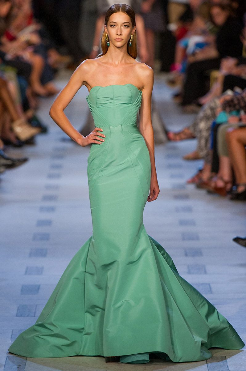 Green dress one shoulder  Zac Posen Spring  My dress looks very similar to this one I am