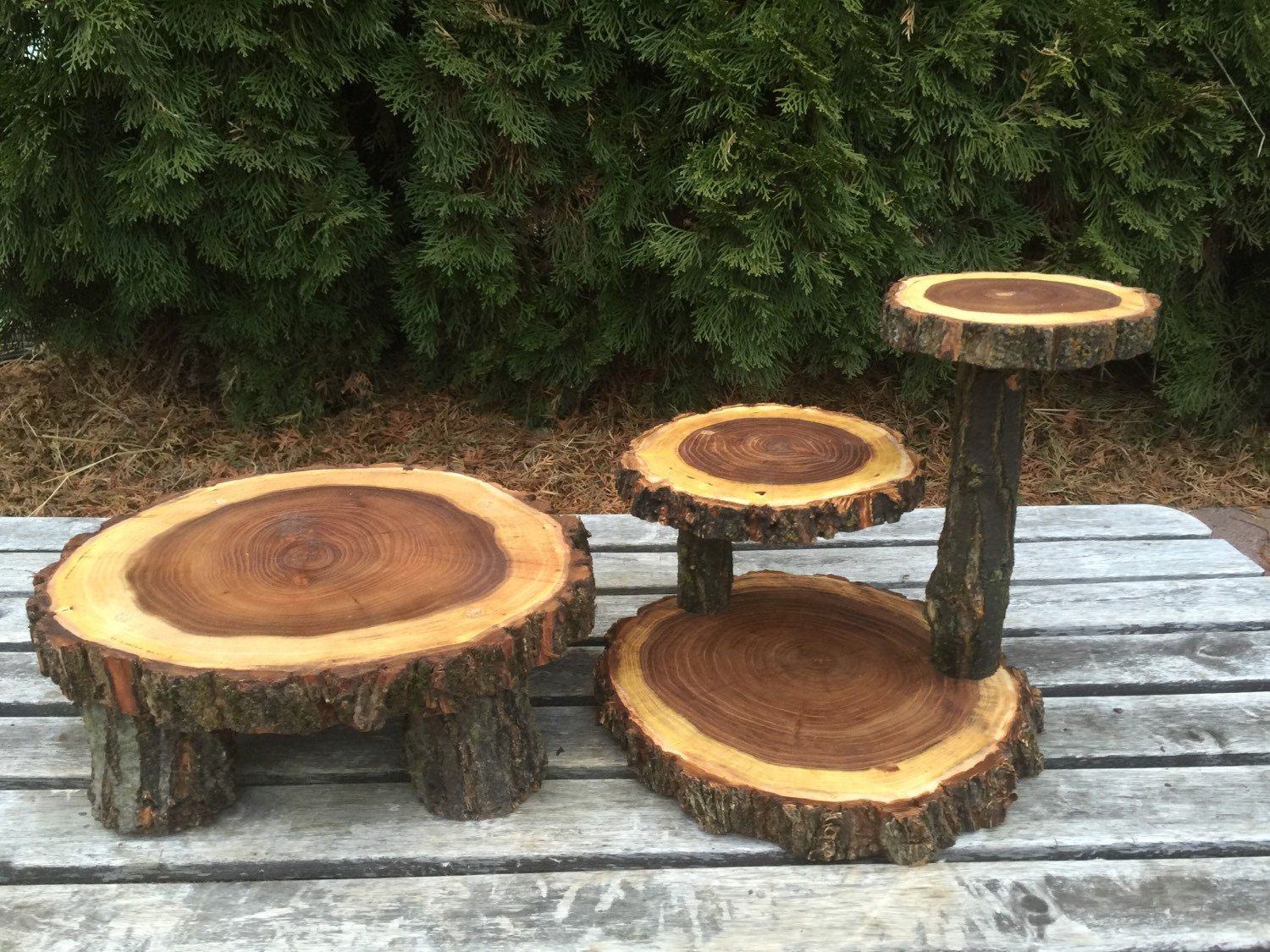 Elm Wood Rustic Cake 50 Cupcake Stand Wedding Party Shower