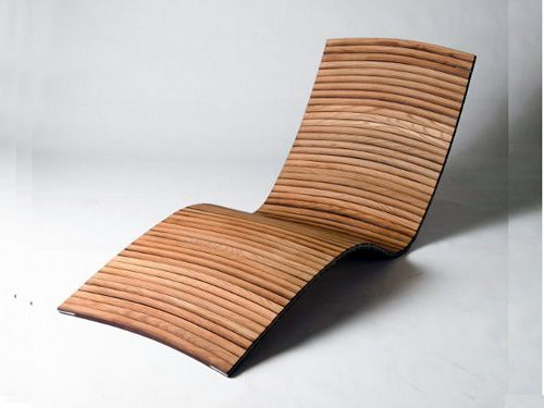 Outdoor Lounge Chair Design - Outdoor Lounge Chair Design Madera Doblada - Bending Wood