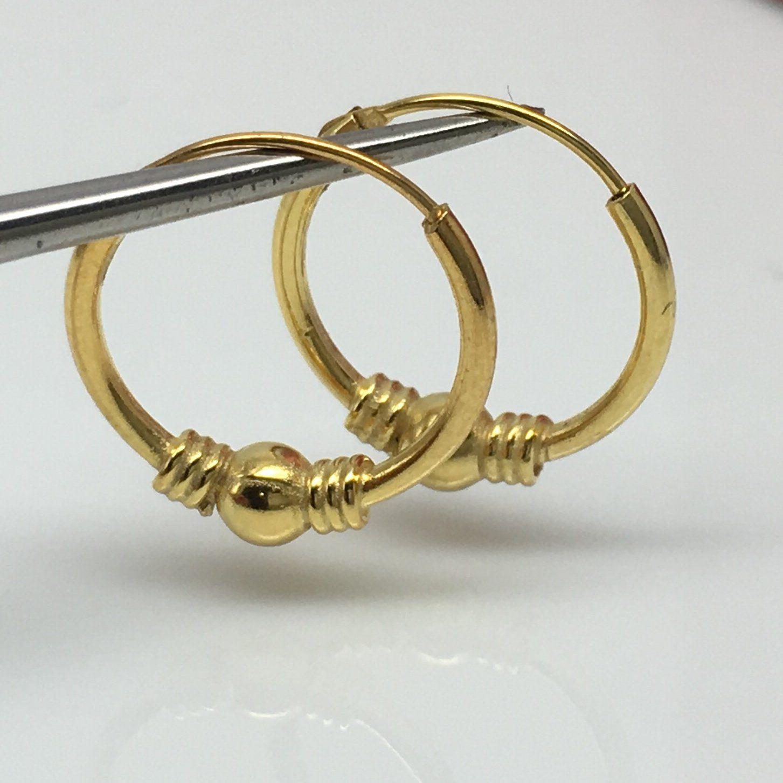 Thin gold hoop earrings, men\'s wire hoop earrings, small hoop ...