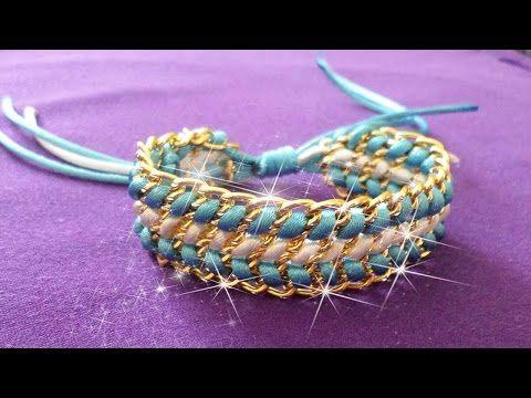4e7f6d197039 Ideas para hacer pulseras con cadena   Accesorios de Moda - Hablobajito -  YouTube