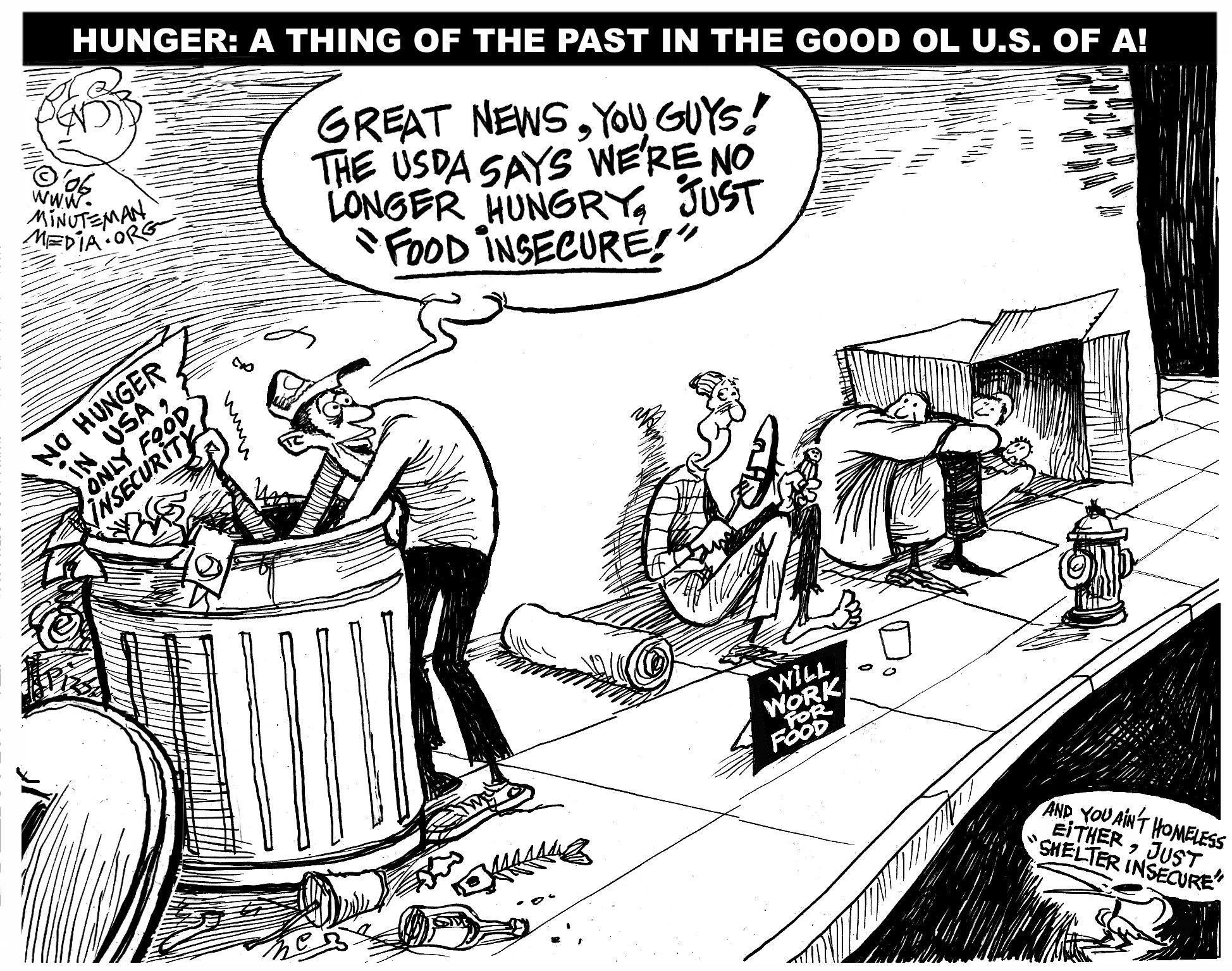 End of Hunger in US | Bikes, Cartoon and The o'jays