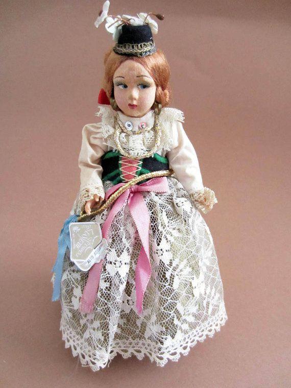 Vintage Italian Alto Adige costume doll