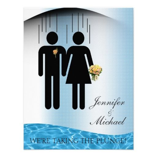 Funny Taking The Plunge Custom Wedding Announcements