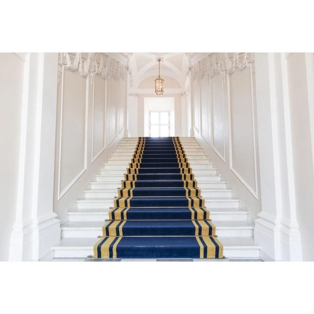 White Palace Stairs Blue Carpet Wedding Background Love