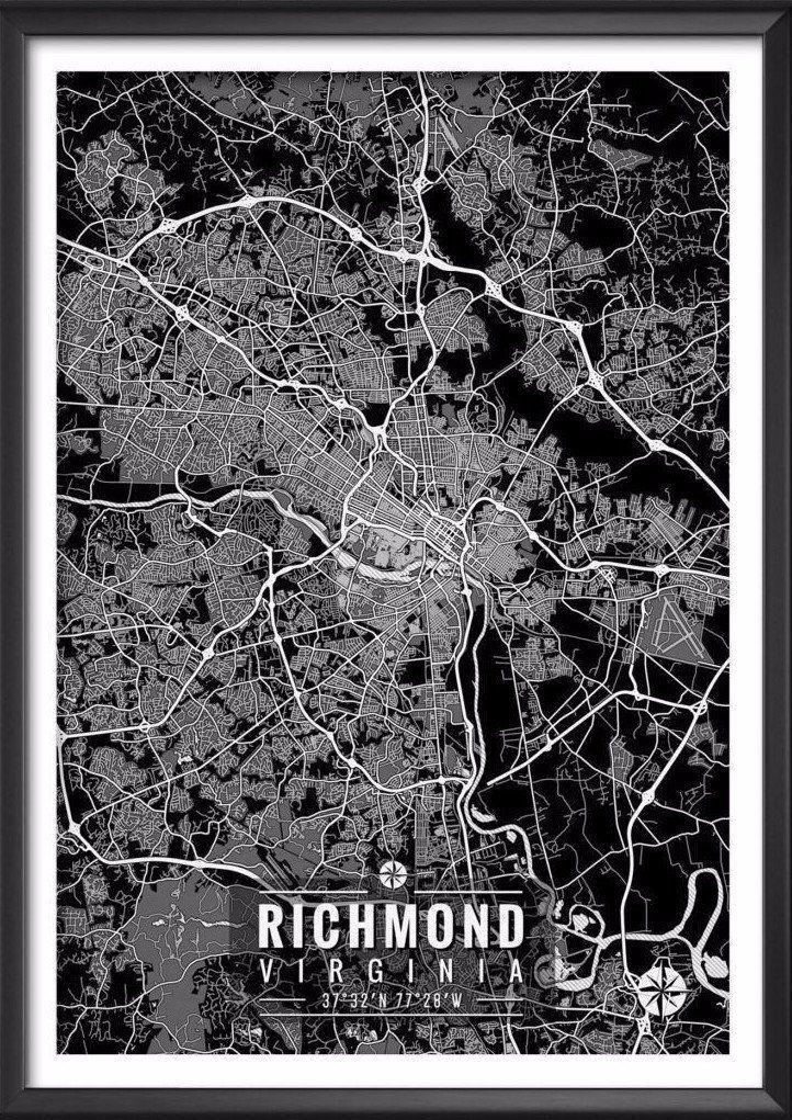 Richmond Virginia Map with Coordinates Richmond Virginia
