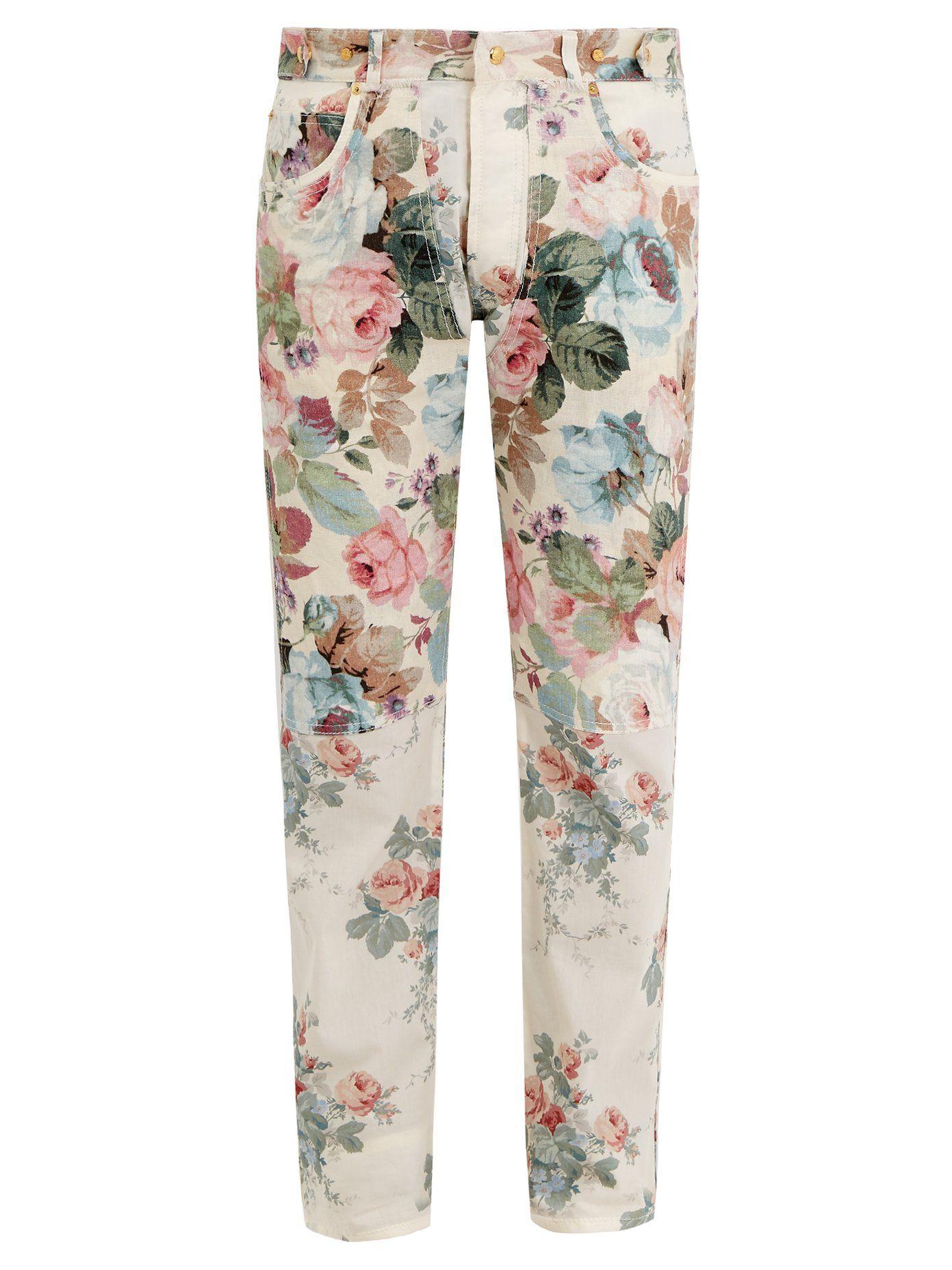 87bb5ade6962b Floral-print slim-leg cotton trousers | Loewe | MATCHESFASHION.COM ...
