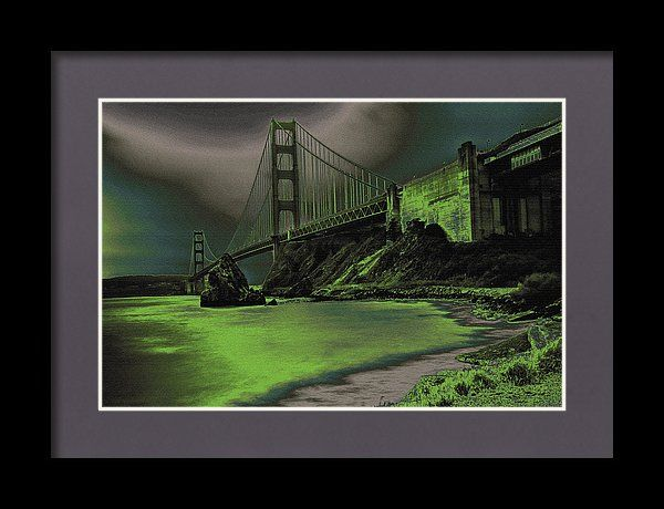 Golden Gate Bridge Framed Print featuring the photograph Peaceful Eerie Feeling by Marnie Patchett