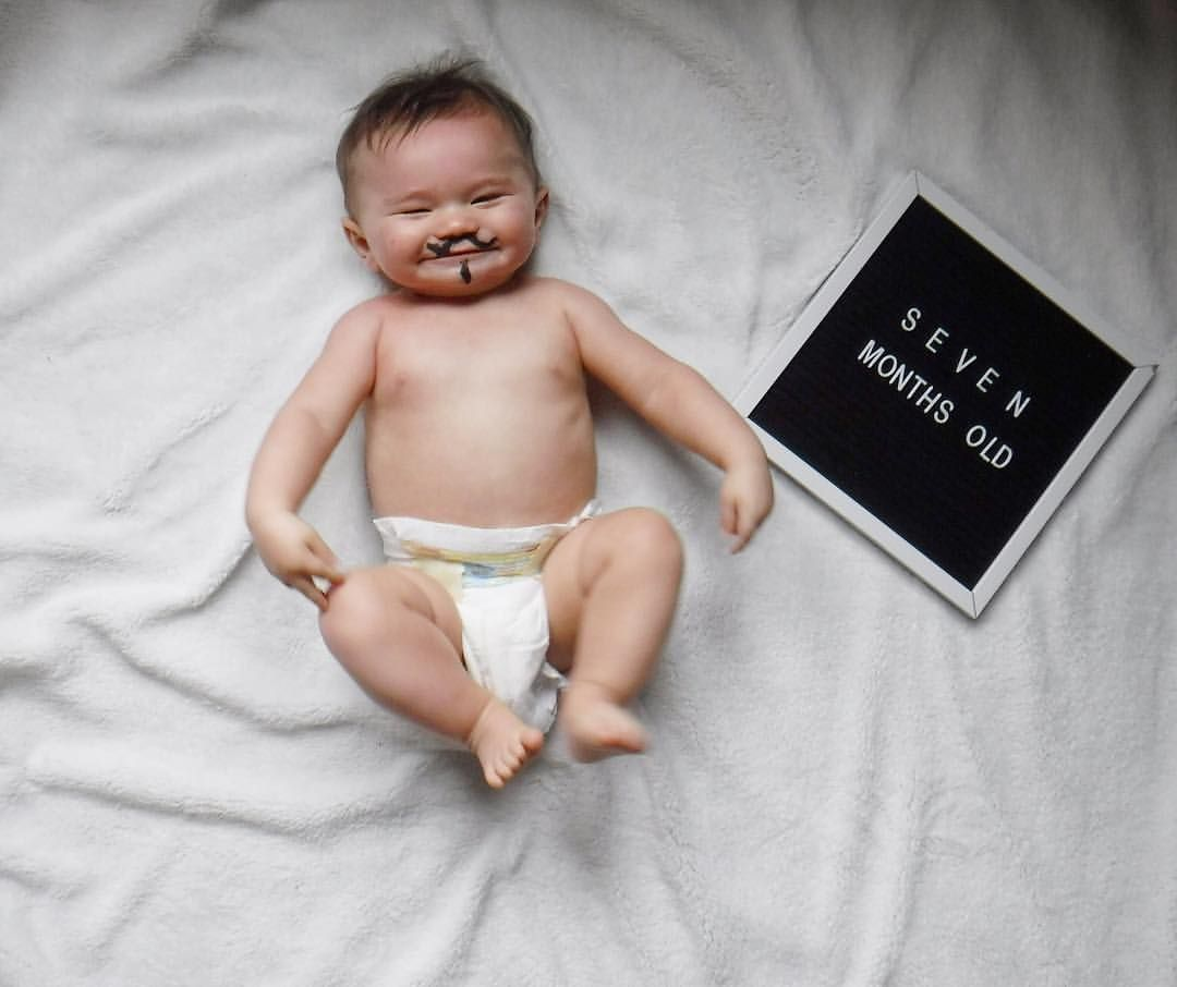 7 month old pictures, milestone baby picture ideas, DIY ...