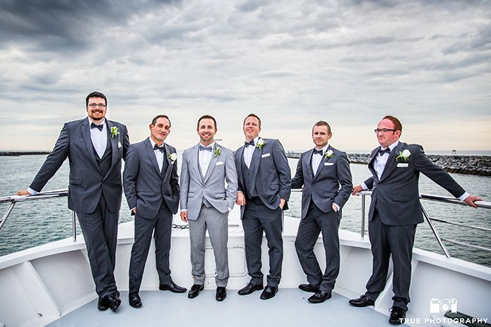 The Many Shades Of Grey Uses Contrasting Suits To Make A Unique Groom Party Wedding TuxedosGrey