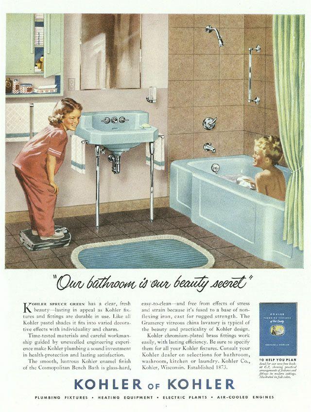The Bold Look Of Vintage In 2019 Vintage Bathrooms