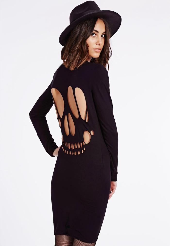 Robe noir mi long