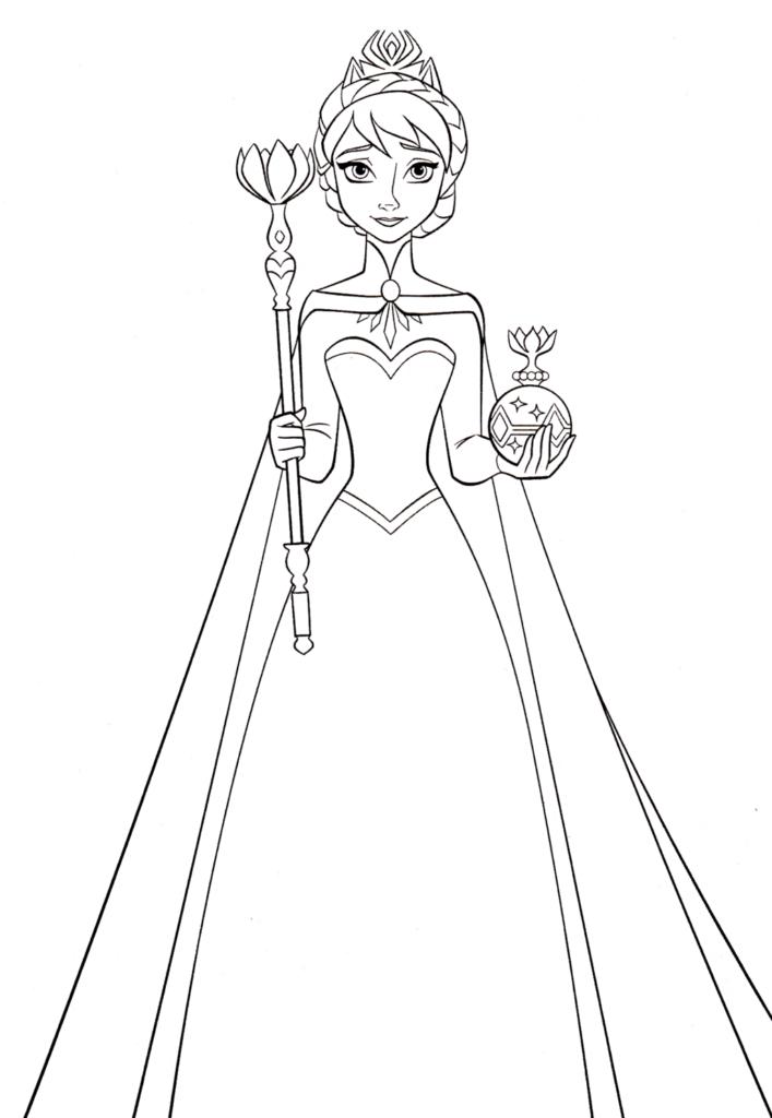 Queen Elsa Coloring Sheet You'll Love