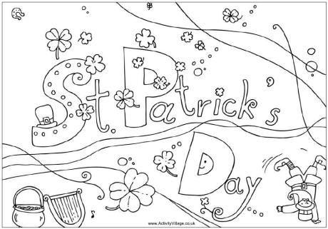saint patricks day coloring pages St Patrick 39 S Day Coloring Page | Coloring: St.Patrick's Day  saint patricks day coloring pages