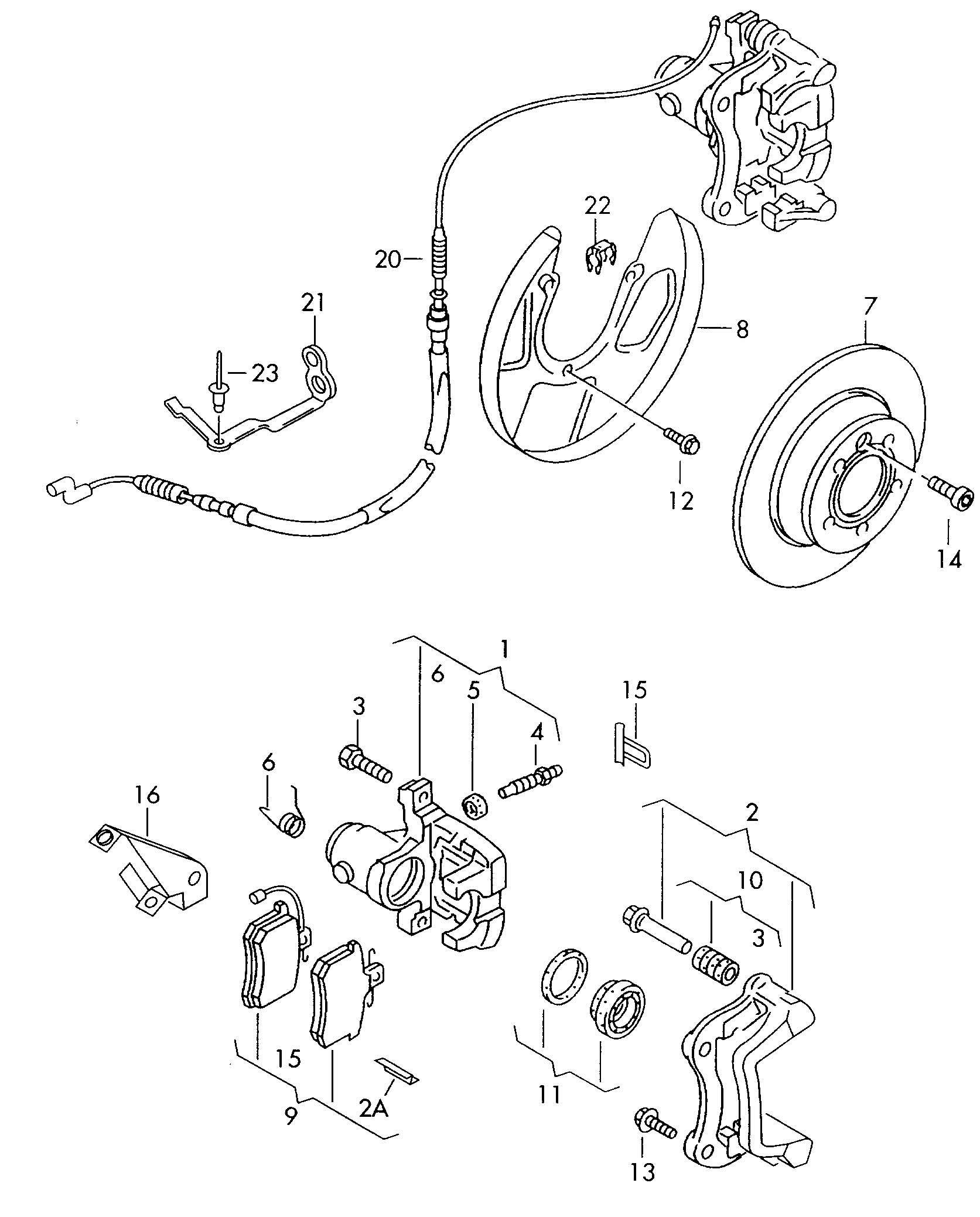 Disc Brake With Caliper Mark Ii Brake Disc Brake Cable