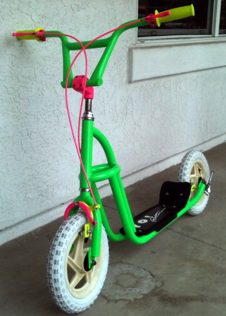 Green scooter Scooter, Bmx scooter, Bmx bicycle