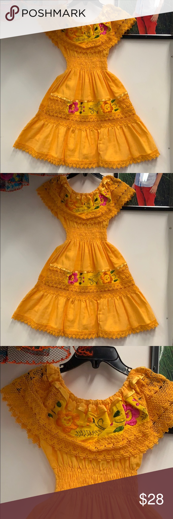 Yellow Size 4t Dress Boho Chic Dress Dresses 4t Dress [ 1740 x 580 Pixel ]