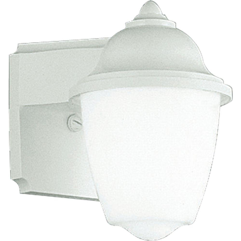 Progress Lighting Polycarbonate Collection 1 Light White 8 75 In Outdoor Wall Lantern Sconce P5844 30 Outdoor Wall Lantern Outdoor Sconces Progress Lighting