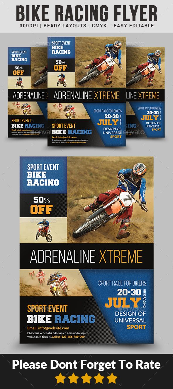 bike racing flyer templates flyer template template and event flyers