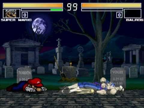 MUGEN無限格鬥 Mario? VS Balrog?【Watch Mode】瑪利歐?VS巴洛克?【觀戰模式】