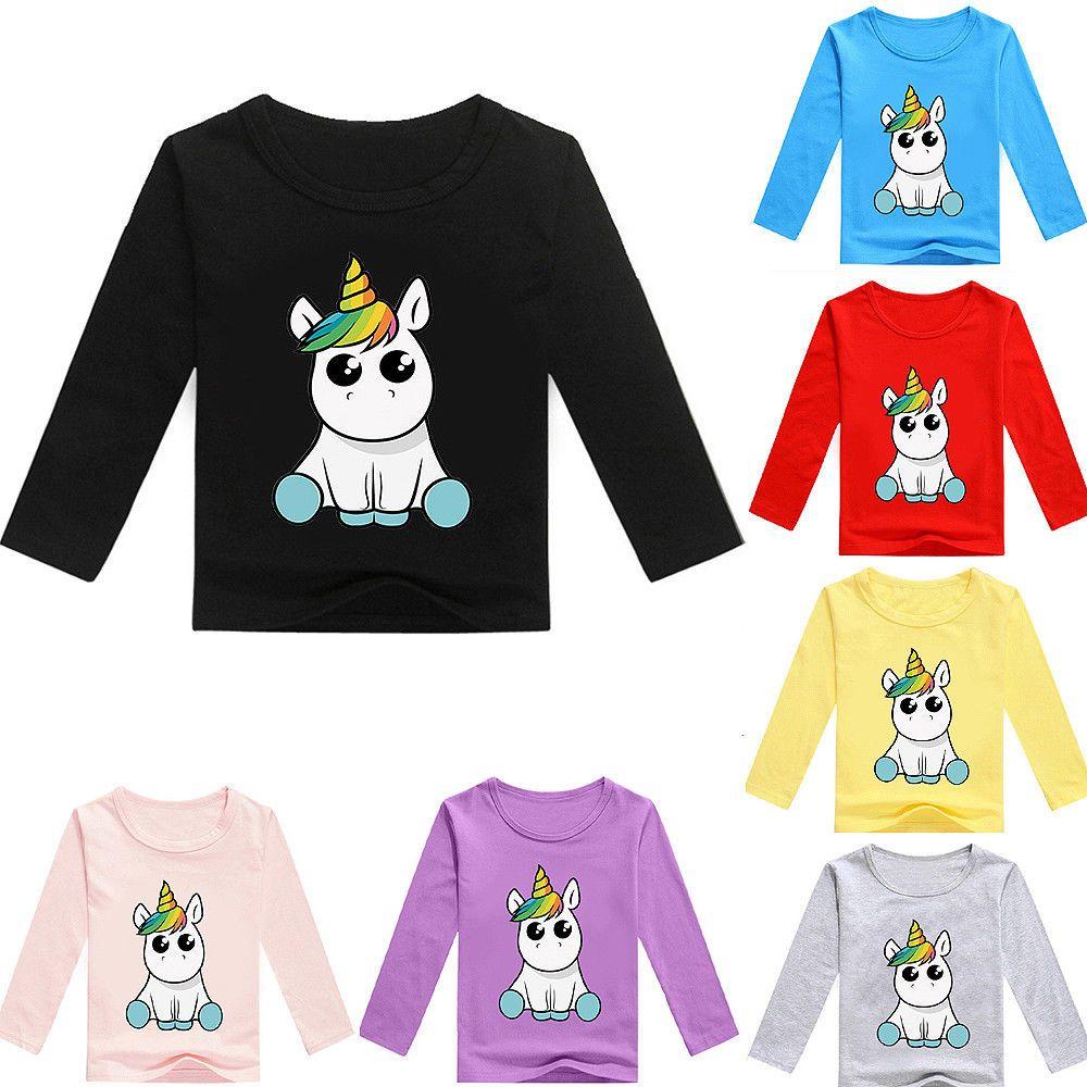 937de0aee Boys Girls Unicorn Kids Cartoon Long Sleeve T-shirt Tee Party Casual  Costumes #fashion #clothing #shoes #accessories #kidsclothingshoesaccs ...