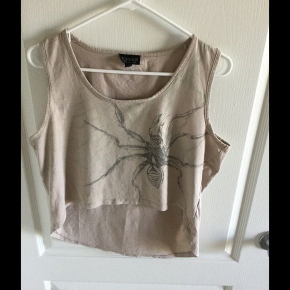Crop top spider us 6 uk 10 Great pre loved condition Topshop Tops Crop Tops