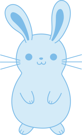 Bunny blue. Rabbit art cute easter