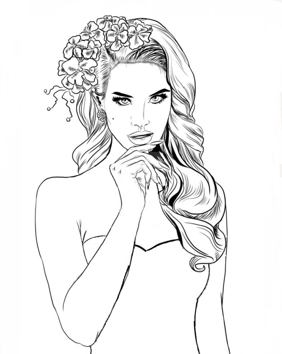 Pin by swoon are you worthy jewelry co on color my for Lana del rey coloring pages