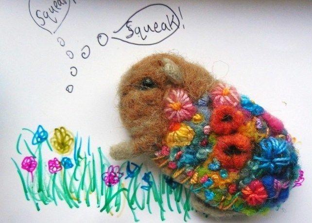 Guinea Pig Flowerbomb Brooch £27.50