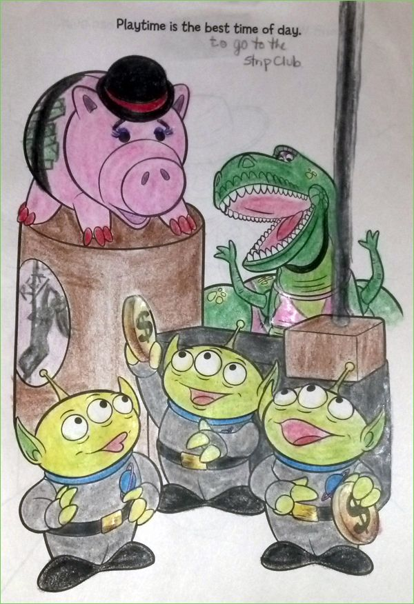 Toy Story Strip Club - iTypewriter stuff Pinterest - new coloring book pages toy story