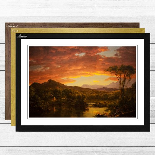 Big Box Art A Country Home By Frederic Edwin Church Framed