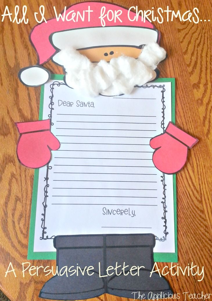 Santa Persuasive Letter And Craft  Santa Students And Holidays